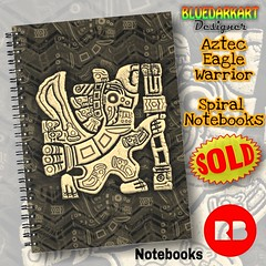 SOLD! thank You! 📒  #AztecEagleWarrior #Spiral #Notebooks 👉 https://rdbl.co/2QggOCg 🔆  #Design by #BluedarkArt #TheChameleonArt 🔆 Redbubble Shop 👉 https://www.redbubble.com/people/bluedarkart (BluedarkArt) Tags: thechameleonart artist shoppigonline notes giftideas cool originalart coolstuff designtrends office spiral bluedarkart design ancientart backtoschool school writing notebooks stationery tribalart azteceaglewarrior