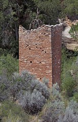 Ruins of Square Tower (Ron Wolf) Tags: anthropology archaeology hovenweepnationalmonument nationalpark nativeamerican puebloan architecture desert ruins stonework structure tower wall utah