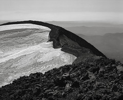 On the Rim of the Summit Crater, South Sister, Oregon Cascades (austin granger) Tags: southsister cascades mountain summit oregon climb snow volcano film gf670 geology
