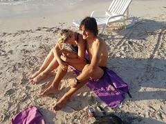 with Maciej Dubaj (Ela Ścibior) Tags: hug smile sand couple dubaj great