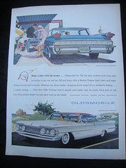 1959 Oldsmobile Ninety-Eight Holiday Sport Sedan & Super 88 Holiday Scenicoupe USA Original Magazine Advertisement (Darren Marlow) Tags: 1 59 19 1959 o oldsmobile h holiday s spor sedan scenicoupe n ninety e eight 88 c car cool collectible collectors classic chrome f fins a automobile v vehicle g gm m general motors u us usa united states american 50s