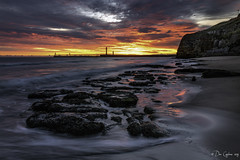 From out of the blue (Dave Cappleman) Tags: whitbysunrisedawn whitby whitbydistrict yorkshire northyorkshire coast sea seaside town village coastal tide waves colour colours sunrise dawn sunset bright colourful tidal contrast balance davecappleman davecapplemanphotography beach cliffs sky clouds landscape landscapes composition water season seasonal memories