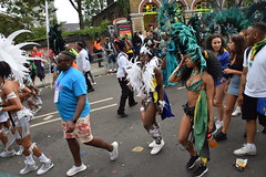 DSC_8344 Notting Hill Caribbean Carnival London Exotic Colourful Turquoise and Black Costume with Ostrich Feather Headdress Girls Dancing Showgirl Performers Aug 27 2018 Stunning Ladies (photographer695) Tags: notting hill caribbean carnival london exotic colourful costume girls dancing showgirl performers aug 27 2018 stunning ladies turquoise black with ostrich feather headdress