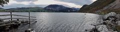 Sunrise over Ennerdale Water, Cumbria, England (vincocamm) Tags: rocks rocky fence lake lakedistrict cumbria ennerdale ennerdalewater clouds cloudy morning sunrise moody wideview panoramic panorama