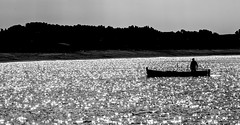 [ Eroe marino - Sea hero ] DSC_0050.R2.jinkoll (jinkoll) Tags: silhouette fisherman boat fishing reflections sea sun waves water mare shade blackandwhite bnw bw bn shore beach nicotera calabria coast ancient elderly traditions sailing