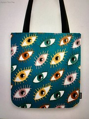 Up to 40% Off Everything Today with Code HEYFALL (Excludes New Furniture).  Perfect Halloween candy bag!  Available as many fun products in my Society6 shop :o) (sassyone2013) Tags: eye eyes halloween eyeball eyeballs cartoon illustration drawing amygale teal green blue pink yellow orange red indieart indiegifts halloweencandybag halloweencandybags prettyeyes eyedrawings digitalart quirky weird whimsical