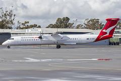 QantasLink (VH-QOK) Bombardier DHC-8-402Q taxiing at Wagga Wagga Airport (5) (Bidgee) Tags: yswg waggawaggaairport qantaslink dash8 q400 bombardierdhc8402q bombardierdhc8400 vhqok