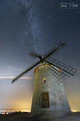 Tocando el cielo... (T.Pardo) Tags: molino via lactea milkiway stars estrellas nikon d750 1424 night noche nocturna long exposure imagesforthelittleprince