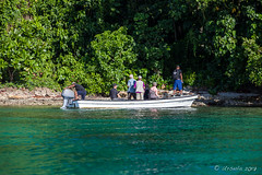 Boat on Tawali Bay 3169 (Ursula in Aus (Resting - Away)) Tags: jimclinephototour milnebay png papuanewguinea tawali