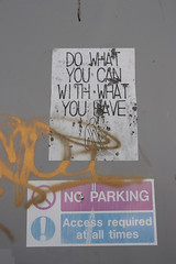 Do what you can with what you have (and no parking) (Dai Lygad) Tags: dowhatyoucanwithwhatyouhave philosophy inexplore life advice bristol sydneyrow jeremysegrott