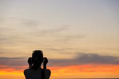 Summer Vibes (CoolMcFlash) Tags: person woman sunset dusk sky negativespace copyspace silhouette fujifilm xt2 cloud orange weather frau sonnenlicht sonnenuntergang light licht abend himmel kontur wolken cloudscape wetter fotografie photography nature natur xf18135mmf3556r lm ois wr sommer summer