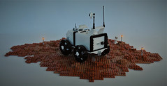 PHOENIX Rover on Mars - rear view (adde51) Tags: adde51 lego moc mars mars2050 rover febrovery wheel technique exploring brickbuilt wheels scifi sciencefiction science