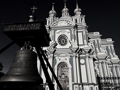 Smolny Cathedral (Sobor) | St. Petersburg (maryduniants) Tags: sobor holy church saint white black bigbell smolny smolnycathedral smolnysobor cathedral bell blackandwhite russia stpetersburg