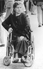Anxious 1970s Para (jackcast2015) Tags: handicapped disabledwoman crippledwoman wheelchair paraplegic paraplegicwoman