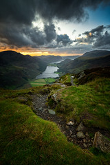 fleetwith pike sunset. (akh1981) Tags: mountains cumbria landscape lakedistrict lake buttermere hiking uk valley nikon benro nisifilters moody walking sunset clouds sky unesco nationaltrust nationalpark nationalheritagesite nature