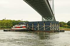 Norfolk Tug Company's Captain D (thetrick113) Tags: captaind tugboatcaptaind norfolktugcompany tugboat hellgate newyorkcity city barge deckbarge garbagebarge workingvessel vessel sonyslta65v eastcoast randallsisland marine container