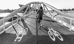 Amsterdam Bridge (Michael Shoop) Tags: michaelshoop amsterdam netherlands holland noordholland canon7dmarkii bicycle bike nemo bridge biker candid candidstreetphotography sciencecenter