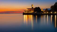 Schloss Montfort (Klaus Steinert) Tags: see bodensee langenargen montfort lakeconstance sunset lake reflexions spiegelung pentax pentaxk70 1685hd