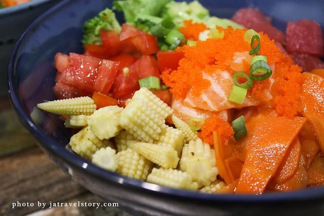 YU POKE 客製化夏威夷生魚飯99元起,熟食丼飯配胡麻醬也很好吃【捷運公館】 @J&A的旅行