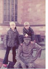 Downtown Zweibruken, Germany (nick_cw1861) Tags: zweibruken germany philsmith nicksmith brother statue