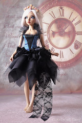 New outfit coming soon Witch Fairy dress! ^-^ (Clockwork Faery Co) Tags: dress witch fairy black blue purple clockwork faery bjd doll etsy shop minifee slim msd lace
