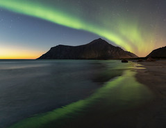 The Northern Lights (Andrew G Robertson) Tags: lofoten islands norway norge flakstad skagsanden beach northern lights aurora astro borealis night