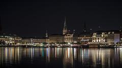 Hamburg at night (Twjst) Tags: deutschland germany hamburg langzeitbelichtung lichter lights longexposure nacht night reflection spiegelung wasser water
