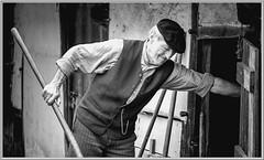 the time (aminekaytoni) Tags: time vintage black white blanc et noir portrait man homme prairie farm ferme agriculteur farmer boren vlaams vlanderen genk borkerijk belgie netherlands nederlands 50mm canon 700d ligt temps passe ancien fermier travail work working werk