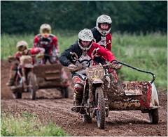 Grass Trackers (Hugh Stanton) Tags: bike motor helmet sidecar track grass