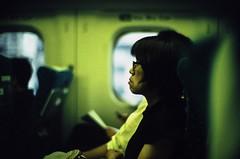 """Home bound"" (jaxting) Tags: jaxting f10 people candid 東京 tokyo japan train street filmisnotdead provia400x reversalfilm film istillshootfilm noctilux leica"