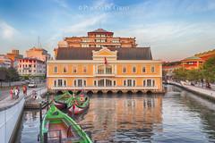 Aveiro, Portugal - La vecchia Capitaneria di Porto (Placido De Cervo) Tags: aveiro portogallo portigal capitaneria barche boats ria laguna venezia moliceiros