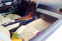 2004 Ford Thunderbird interior, seats, controls (wbaiv) Tags: ford thunderbird turquise beige interior leather fabric soft top pretty car colors black plastic carpet cloth inserts seats luxury 2seat automobile 2004 oneowner