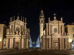 Piazzo San Carlo (dxd379) Tags: italy italia turin torino piedmont nikon d7100 night photography long exposure church chiesa piazza europe