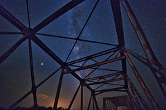 Trestle Bridge (LoboTrey) Tags: stars night nightsky nightscape nighttime bridge highway nm new mexico canon canon6dii explore travel light outside landscape landscapes desert ngc longexposure