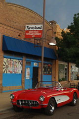 8-18-18, clarkdale az (EllenJo) Tags: pentaxks1 august18 2018 clarkdalearizona ellenjoroberts corvette chevrolet chevy newsstand mainstreet red 89a verdevalley gm americancar convertible car automobile 1957corvette