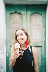 Stromboli (cranjam) Tags: ricoh gr1 gr1v film kodak portra160 italy italia stromboli eolie sicily sicilia blanka icecream gelato