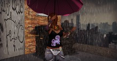 Rainy Day Escape (BooBoo Lovenkraft) Tags: vaf gaeg witchcraft 7deadlys{k}ins 7ds candykittenck catwa designercircle ikon imageessential letistattoo lumipro slink witchocraft suicidedollzevent