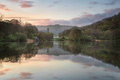 Postcard from Lakeland (Pete Rowbottom, Wigan, UK) Tags: rydalwater landscape outdoors ambleside waterreflections boathouse sunrise morning lakedistrict peterowbottom nikond750 sky symmetry idyllic still mirrorimage pastel pink mountains england uk photography 2018 fells cumbria house thelakedistrict postcard explore scenic scenery tranquil quiet calm serene peaceful britain visitbritain