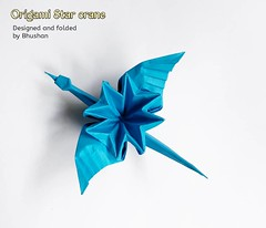 Origami Star crane (My Crafts and Arts) Tags: origamicrane origamistarcrane origamibird craneorigami