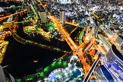 俯瞰夜華(DSC_5019) (nans0410(busy)) Tags: japan kanagawaprefecture yokohama deck bay port warf cityscape nightview scenery buildings outdoors 日本 神奈川縣 橫濱港 港未來 夜景 城市景觀