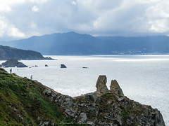 Cantabrian Coast (Alejandro Hernández Valbuena) Tags: coast horizon mount peninsula rocky scenic sunset afternoon coastal landscape line mountain sea cantabrian galicia spain