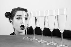 Scream (j.raikowski) Tags: scream blackandwhite black beauty women white girl glas portrait canon crazy surreal studio eyeliner