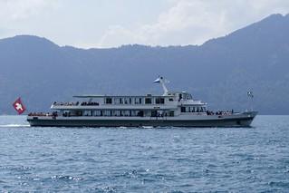 Ship MS Flüelen Lake Lucerne Vierwaldstättersee Weggis Switzerland 2018