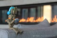 Moody Groot (Ochre Jelly) Tags: lego moc afol groot guardians galaxy marvel chibi fire fireplace