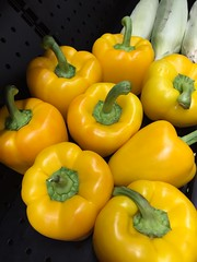 Yellow Bell Peppers (joncutrer) Tags: food produce vegetables cc0 royaltyfree cooking ingredients yellow bellpepper peppers