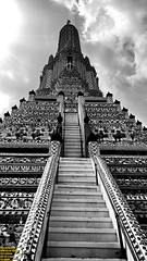 ..stairway to Heaven.. (Ferry Octavian) Tags: street shot travel trip noflash handheld explore outdoor monochrome mono bw black white grey greyscale blackandwhite sun sky skyline horizon beautiful blue cloud clear thailand thai bangkok capital city asia south east sea southeast buddha temple carving stonecraft wat arun traditional culture religion religious buddhist building skyscraper tower architecture design structure exterior icon landmark lg g4 smartphone phone cameraphone android manual