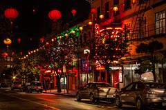 Chinatown Lights (vanessa_macdonald) Tags: chinatown nightphotography longexposure lights chinese night nightscape victoria bc victoriabc travel britishcolumbia vancouverisland vanisle canada canon canoncanada downtown cityscape city street life urban streetscape colourful colours bright vivid