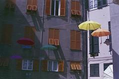 (von8itchfisk) Tags: olympus om10 colour fuji 35mm film filmisnotdead ishootfilm expiredfilm architecture umbrella analog analogphotography vonbitchfisk italy genoa genova