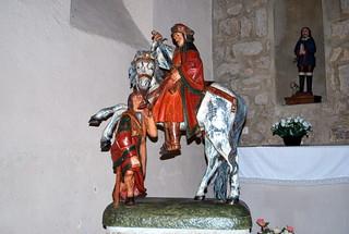 Dettey (71) : église Saint-Martin : statue de Saint Martin