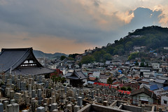 A Break in the Clouds over Onomichi (Oliver MK) Tags: a break clouds over onomichi japan japanese city town landscape cityscape mountain view distance graveyard temple colour outdoor blue sky light houses buildings stunning beautiful portside port side onomichishi 尾道市 hiroshima prefecture inland sea hill golden hour glow rooftops roof nikon d5500 にほん 日本 おのみち 尾道 god rays sunlight beams
